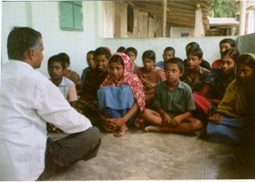 Drop out kids are given counseling to rejoin schools